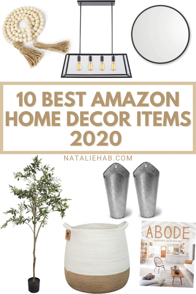 10 Amazon Home Decor Must-Haves- nataliehab.com: Amazon home, amazon must-haves, home decor, budget home decor, cozy home, home finds, amazon finds, farmhouse, amazon farmhouse, best of amazon home, home, house to home, make a house a home