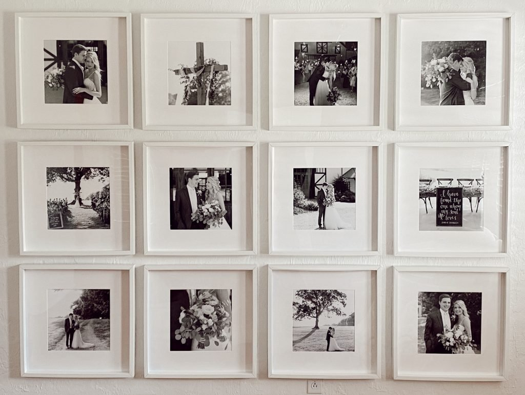 gallery wall, photo wall, DIY photo wall, home projects, frames, affordable frames,