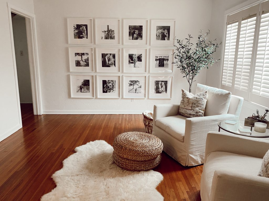 gallery wall, photo wall, DIY photo wall, home projects